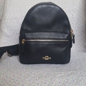 Coach Mini Charlie Backpack in Black